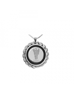 Gabriel Rope & Onyx Necklace, Sterling Siver