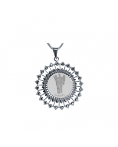 Gabriel Sunburst Necklace, Sterling Silver