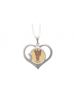 Gabriel God Heart Necklace, Sterling Silver