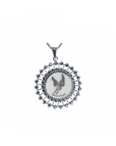 Metatron Sunburst Necklace, Sterling Silver