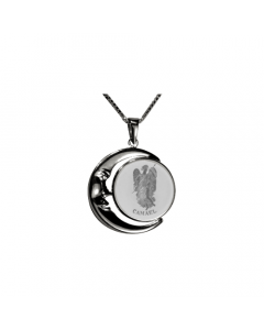 Camael Moon Necklace, Sterling Silver