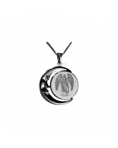 Uriel Moon Necklace, Sterling Silver