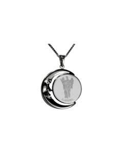 Gabriel Moon Necklace, Sterling Silver