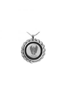 Raphael Rope & Onyx Necklace, Sterling Siver