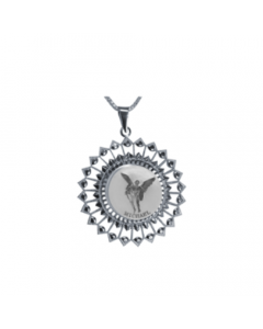 Michael Sunburst Necklace, Sterling Silver