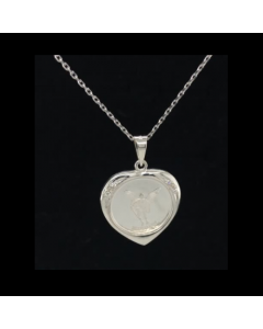 Michael Heart W/CZ's Necklace Sterling Silver