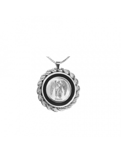 Uriel Rope & Onyx Necklace, Sterling Siver