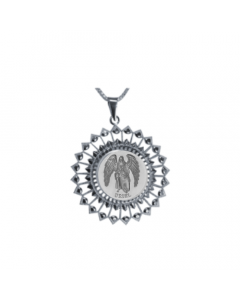 Uriel Sunburst Necklace, Sterling Silver